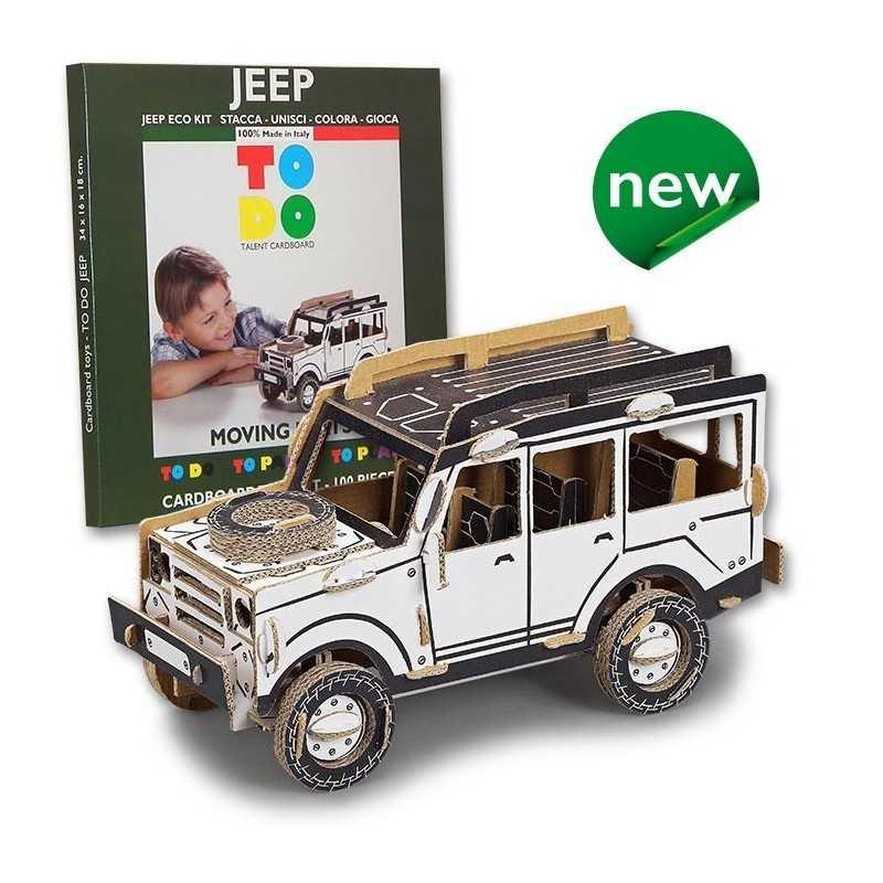 Jeep to do fuoristrada in cartone da montare e colorare for Jeep da colorare