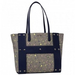 FASHION BAG reversibile BORSA spot HOY shoulder CON MANICI e tracolla SEVEN double face BLU