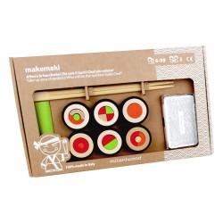 MAKEMAKI gioco in legno MILANIWOOD 100% made in Italy CREA SUSHI chef ABILITA' età 6+