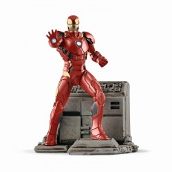 IRON MAN dipinto a mano SCHLEICH 08 MARVEL miniature in resina 21501 personaggi SUPER EROI età 3+