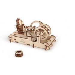 MOTORE PNEUMATICO in legno UGEARS funzionante da montare 81 pezzi PUZZLE 3D