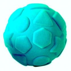 SHAPES BALL palla morbida con le forme AZZURRA gomma naturale RUBBABU caucciu GIOCO tattile 1+