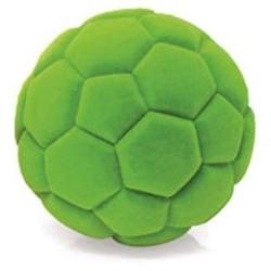 SOCCER BALL palla morbida da calcio VERDE gomma naturale RUBBABU caucciu GIOCO tattile 1+