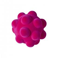 BUMPY BALL PINK palla morbida ROSA gomma naturale RUBBABU caucciu GIOCO tattile 1+