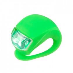 LUCE monopattino LED di sicurezza VERDE silicone flessibile MICRO light RESISTENTE ALL'ACQUA tre regolazioni