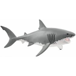 GRANDE SQUALO BIANCO 2018 animali in resina SCHLEICH miniature 14809 Wild Life GREAT WHITE SHARK