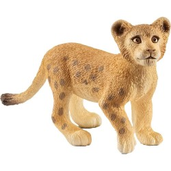 LEONCINO 2018 animali in resina SCHLEICH miniature 14813 Wild Life LEONE CUCCIOLO età 3+