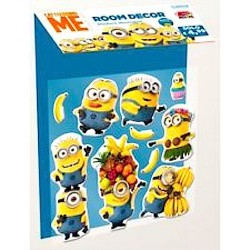 3D ROOM DECOR decorazioni cameretta MINION despicable CATTIVISSIMO ME stickers decorativi