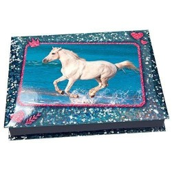 SET SCRIVANIA Top Model HORSES DREAM kit creativo BOX artistico MAGIC MOMENT cavalli