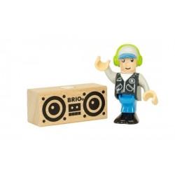 PERSONAGGI BRIO WORLD in legno DJ trenino 33850 seconda serie COLLEZIONE età 3+