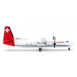 CROSSAIR FOKKER 50 aereo in metallo 554213 modellino HERPA WINGS scala 1:200 plane