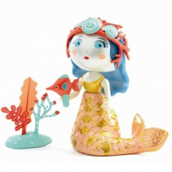 ABY & BLUE sirena ARTY TOYS action figure DJECO in resina DJ06778 snodabile MINIATURA età 4+