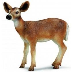 CERVO CODA BIANCA DELLA VIRGINIA FEMMINA animali WILD LIFE gioco SCHLEICH miniature in resina 14254 età 3+