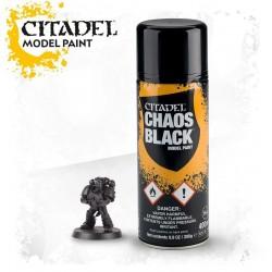 CHAOS BLACK SPRAY nero Citadel model paint base per miniature Games Workshop