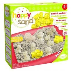 HAPPY SAND SAFARI sabbia cinetica 550g ALADINE 10 formine ANIMALI non secca ATOSSICA non sporca CON VASSOIO età 4+