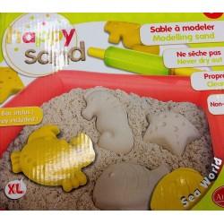 HAPPY SAND sabbia cinetica 550g ALADINE 4 formine xl MARE non secca ATOSSICA non sporca MATTARELLO età 4+