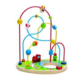 PARCOGIOCHI FANTASIA abaco attività LEGNO E METALLO playground pizzaz HAPE love play E1811 learn 24 MESI +
