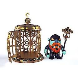 GNOMUS & ZE CAGE pirati ARTY TOYS action figure DJECO in resina DJ06820 snodabile MINIATURA età 4+