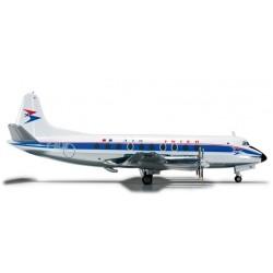 AIR INTER VICKERS VISCOUNT 700 aereo in metallo 555395 modellino HERPA WINGS scala 1:200 plane