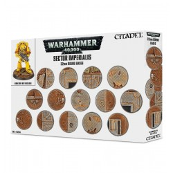 SECTOR IMPERIALIS round bases 32 mm - 60 basette tonde Citadel Warhammer 40.000