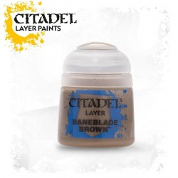 BANEBLADE BROWN Citadel paint colore acrilico layer 12 ml Warhammer Games Workshop