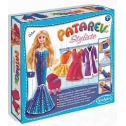 PATAREV kit artistico STYLISTE CHLOE abiti in plastilina SENTOSPHERE creativo CON BAMBOLA INCLUSA età 7+