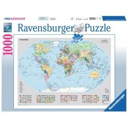 PUZZLE ravensburger MAPPAMONDO POLITICO classic 1000 pezzi 70 x 50 cm