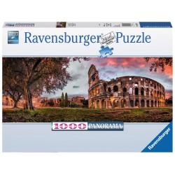 PUZZLE Ravensburger COLOSSEO AL TRAMONTO panorama 1000 PEZZI 98 x 38 cm