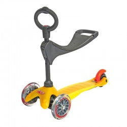 MONOPATTINO mini micro sporty 3 IN 1 mono pattino GIALLO originale 3 RUOTE età da 1 a 5 anni