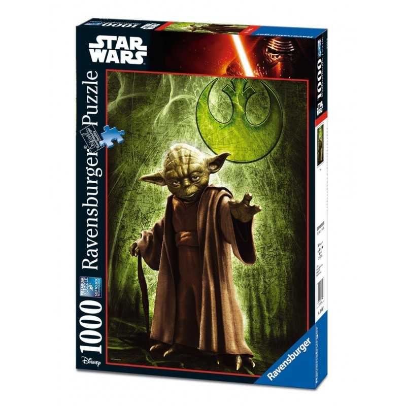 PUZZLE Ravensburger STAR WARS Yoda 1000 PEZZI 50 x 70 cm DISNEY ultimate collection