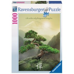 PUZZLE Ravensburger ALBERO ZEN bonsai 1000 PEZZI 50 x 70 cm SOFT CLICK