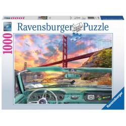 PUZZLE Ravensburger GOLDEN GATE original 1000 PEZZI 50 x 70 cm SOFT CLICK