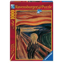 PUZZLE Ravensburger L'URLO DI MUNCH high fidelity masterpiece 1000 PEZZI 50 x 70 cm ART