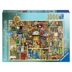 PUZZLE Ravensburger BIBLIOTECA BIZZARRA 2 soft click 1000 PEZZI 50 x 70 cm