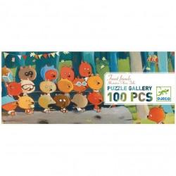 Puzzle FOREST FRIENDS 100 pezzi DJECO gallery GLI AMICI DELLA FORESTA gioco DJ07636 età 5+