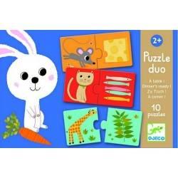 """Puzzle """"PUZZLE DUO A TAVOLA"""" 24 pz, età 2+"""