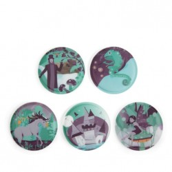 SET KLETTIES per il tuo zaino Ergobag FORESTA INCANTATA 5 PEZZI patelle Haunted Forest