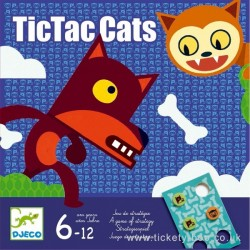 TIC TAC CATS tictaccats GIOCO di strategia UNO CONTRO UNO Djeco DJ08449 età 6+