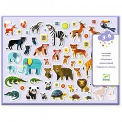 DECALCOMANIE mini adesivi 3D MAMMA E BEBE' Djeco DJ09081 KIT ARTISTICI età 3+