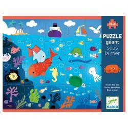 PUZZLE GIGANTE geant SOTTO IL MARE 24 + 8 grandi pezzi DJ07116 ocean DJECO incastri 3+