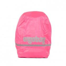 IMPERMEABILE PER ZAINO ERGOBAG parapioggia Shiny Pink rosa rain cover