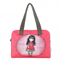 BORSA BAULETTO Gorjuss EVERY SUMMER HAS A SORY Santoro 651GJ04 rosa COATED BARREL BAG