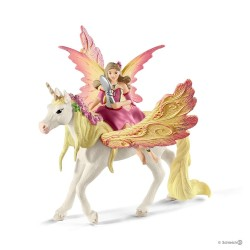 FEYA CON UNICORNO fairy FATA pegaso BAYALA Schleich 70568 miniature fantasy in resina FAIRY età 3+