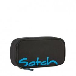ASTUCCIO Satch BLACK BOUNCE attrezzato BOX pencil case NERO con squadra in omaggio