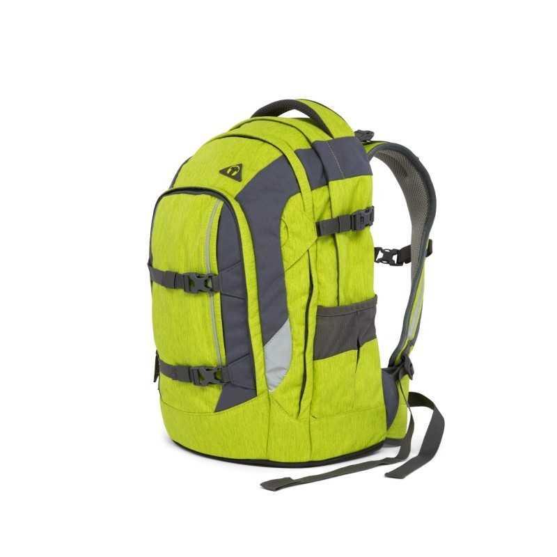 65def97722 ZAINO scuola SATCH ergonomico GINGER LIME in materiale riciclato PACK medie  superiori VERDE