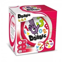 Dobble 1 2 3 party game 1, 2, 3 NUMERI 5 giochi 30 CARTE Asmodee FORME età 3+