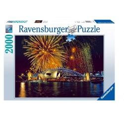 PUZZLE Ravensburger FUOCHI D'ARTIFICIO A SIDNEY 2000 pezzi FIREWORKS IN SIDNEY 98x75cm