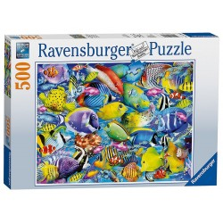 PUZZLE Ravensburger PESCI TROPICALI 500 pezzi TROPICAL TRAFFIC 49x36cm