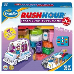 RUSH HOUR JR junior GIOCO DI LOGICA Think Fun TRAFFICO rompicapo 40 SFIDE età 5+