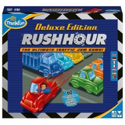 RUSH HOUR DELUXE EDITION Think Fun GIOCO DI LOGICA Think Fun TRAFFICO rompicapo 60 SFIDE età 8+